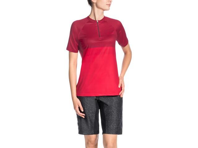 VAUDE Ligure Shirt Women red cluster